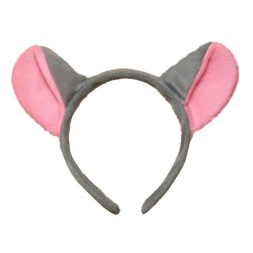 Grey and Pink Mouse Ears Alice Hair Band